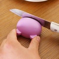 1pc Multifunction Cartoon Design Stable Mini Knife Sharpener Kitchen Tools Grindstone Scissors Kitchen Gadgets