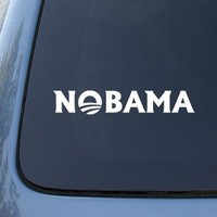 NOBAMA - BARACK OBAMA - Vinyl Car Decal Sticker #1671 | Vinyl Color: White