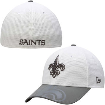 New Orleans Saints New Era Series Gunner Two-Tone 39THIRTY Flex Hat – White