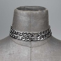 CRUSADER. Chunky Figaro Double Chain Choker – REGALROSE