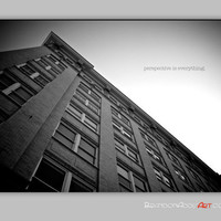 Urban Black and White Photography Perspective Quote, Art With Quotes, Perception
