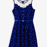 Floral & Lace Sleeveless Dress