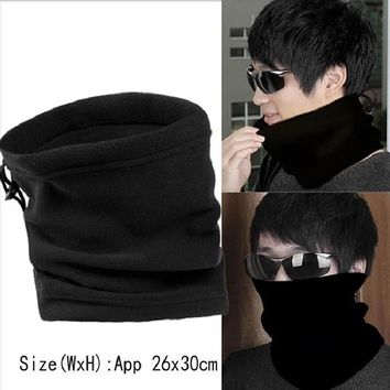 1PC 3 in 1 Winter Unisex Women Men Sports Thermal Fleece Scarf helmet Neck Warmer Camping Hiking Cycling Face Mask Beanie Hats