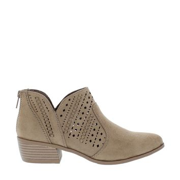 Laser Cut Ankle Bootie (TAUPE)