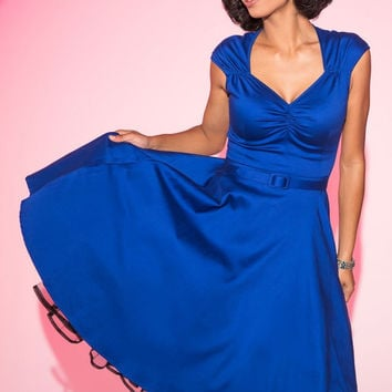 Pinup Couture Heidi Dress in Royal Blue