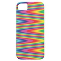 Zig Zag Psychedelic Rainbow Pattern iPhone 5 Cover from Zazzle.com