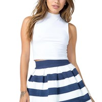 Elastic Stripe Structure Skirt
