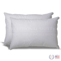 Set of 2 Hypoallergenic Down Alternative Pillows with 100-percent Cotton Ticking