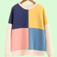 fall block colors sweater