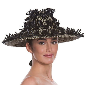 Eric Javits Women's Headwear Tiki Lantern Hat (Black Mix)