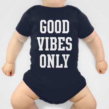Good Vibes Only Onesuit by Deadly Designer