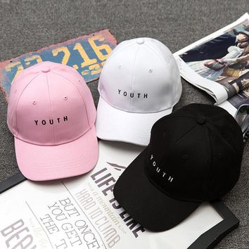 Korean Simple Design Embroidery Cap Outdoors Baseball Cap [11668259855]