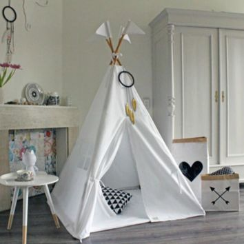 Love Tree Kids Teepee Tent Tipi Tent for kids White Children Play house Toy Kids Tents : childrens teepee tents - memphite.com