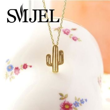 SMJEL2017 New  Minimalist  Desert Prickly Pear Cactus Pendant Necklace for women Party Gift N211