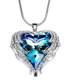 Austrian Rhinestone Crystals From Swarovski Heart Pendants
