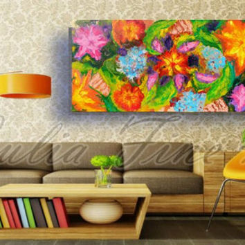 abstract painting, floral abstract art, landscape original large painting on canvas, large wall art, huge, colorful, flower painting, garden