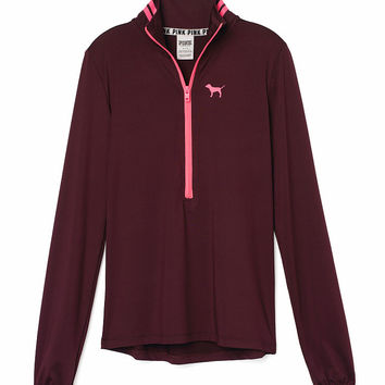 Deep-V Half-Zip - PINK - Victoria's Secret