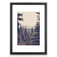 Society6 Mountains Through The Framed Print