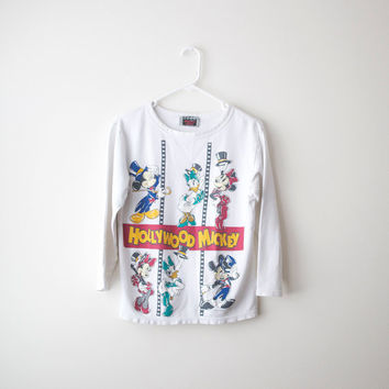 Vintage Hollywood Mickey Mouse 3/4 Sleeves Tee - S