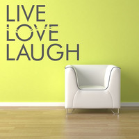 Wall Vinyl Sticker Decals Decor Art Bedroom Design Mural Words Sign Quote Live Love Laugh (z864)
