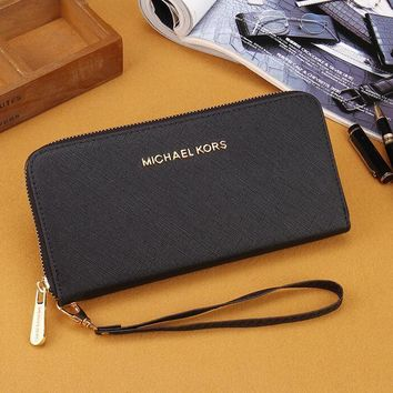 MK 2017 Pure elegant leather printing wallet purse bag [52949352460]