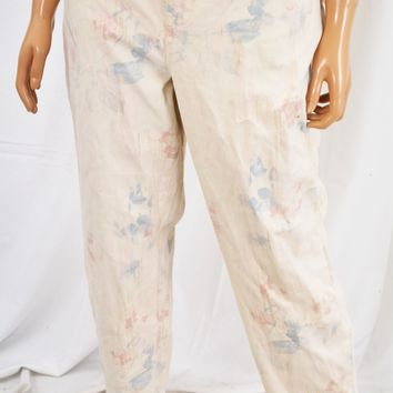 Style&Co Women's Pink Floral Curvy-Fit Skinny Denim Jeans 18