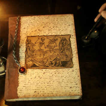 Free shipping in U.S medieval journal medival macabre art journal altered composition journal recipe book handmade journals vintage journal