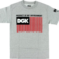DGK Coded Tee Small Athletic Heather