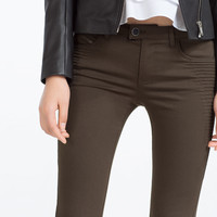 MID-RISE POWER STRETCH TROUSERS