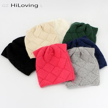 GZHiLOVINGL Cute Baby Girls Boys Kids Children Cat Ears Knitted Wool Hat 5 month-4 Years Kids Warm Winter Beanie Hat Girls Hats