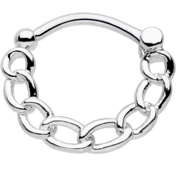 16 Gauge Chained to Fashion Simple Septum Clicker | Body Candy Body Jewelry