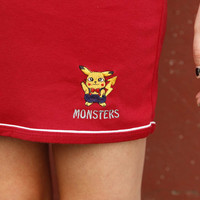 MONSTERS MINI SKIRT