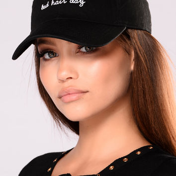 Bad Hair Day Cap - Black/White