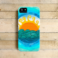 A Happy Day Art Phone Case for iPhone 4, 4s, 5, 5s, 5c, 6 and Samsung Galaxy S3 & S4