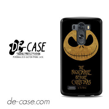 The Nightmare Before Christmas By Tim Burton For LG G3 Case Phone Case Gift Present YO