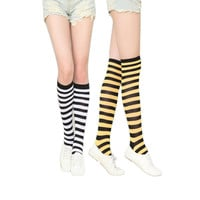Sexy Women Socks Winter Knee High Stripes Ankle Long Colorful Socks