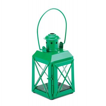 Mini Crisscross Candle Lamp Green