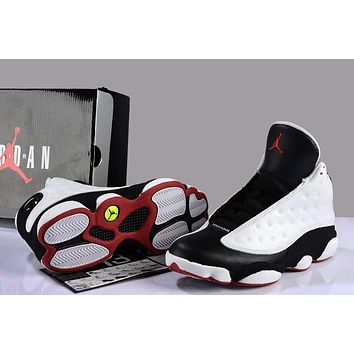 Air Jordan 13 Retro AJ13 XIII White/Black Men Basketball Shoe