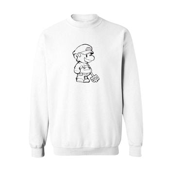 Super Mario Black/Gray New  Sweatshirts with Hoodies Men Brand Logo in Fashion Mens Hoodies and Sweatshirts 3xl