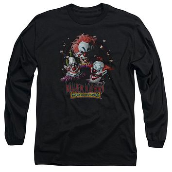 Killer Klowns From Outer Space Long Sleeve T-Shirt Popcorn Black Tee