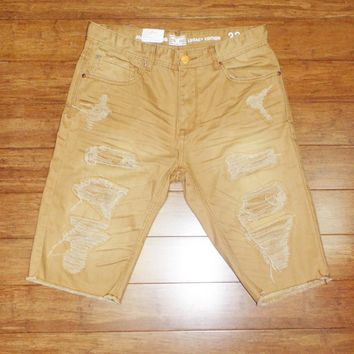 Jordan Craig- Shredded Color Shorts (Summer Wheat); C8