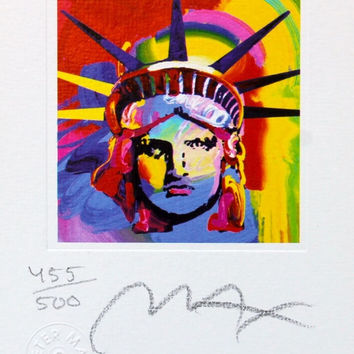Liberty Head VIII (mini), Limited Edition Lithograph, Peter Max