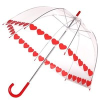 Frankford Clear Printed Bubble Umbrella - Heart String