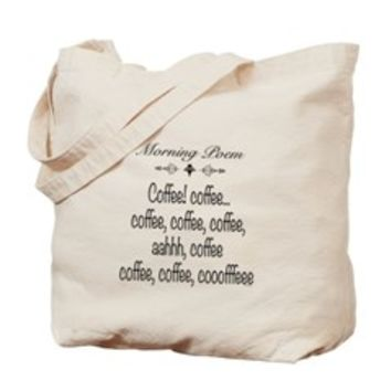 Coffee Poem Tote Bag> Morning Coffee Poem> Sheldon To Mr Darcy Art by Alice Flynn