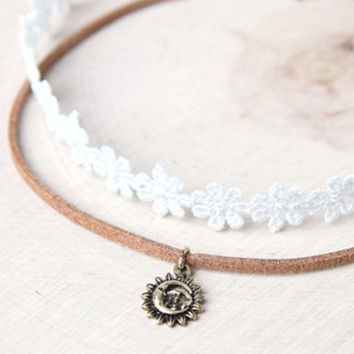 LA Hearts Lace Sun Choker Set at PacSun.com