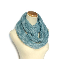 Blue Cowl, Circle Scarf, Infinity Scarf, Fiber, Womens Scarf, Fashion Scarf, Winter Scarf, Winter Scarf