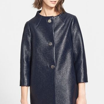 Women's kate spade new york 'erika' lacquered tweed coat