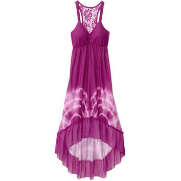 Walmart: No Boundaries Juniors Hi-Low Maxi Dress with Lace Racerback