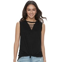 Juniors' SO® Strappy Tank | null