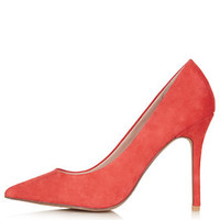 GEMINI2 Suede Court Shoes - Coral